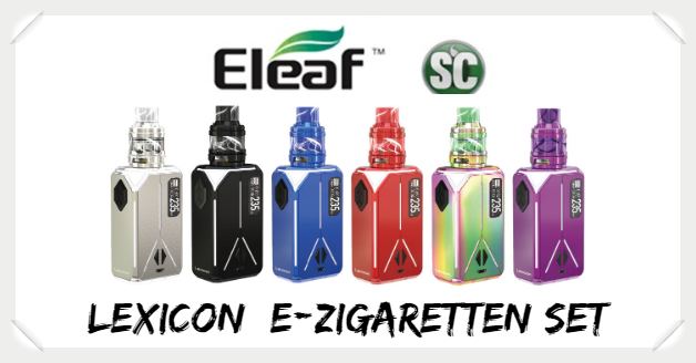 Lexicon Eleaf SC E Zigaretten Set Set Liquid Helden