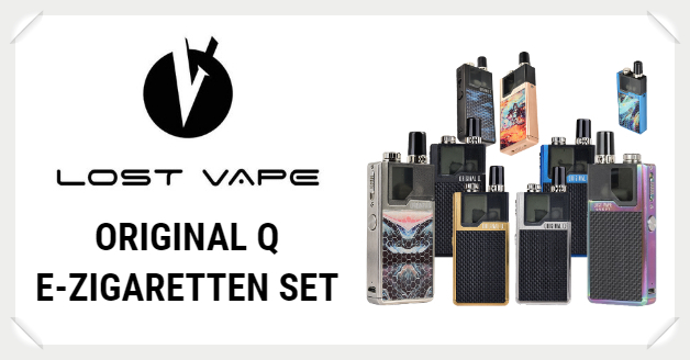 Lost Vape Original Q E-Zigaretten Set Liquid Helden